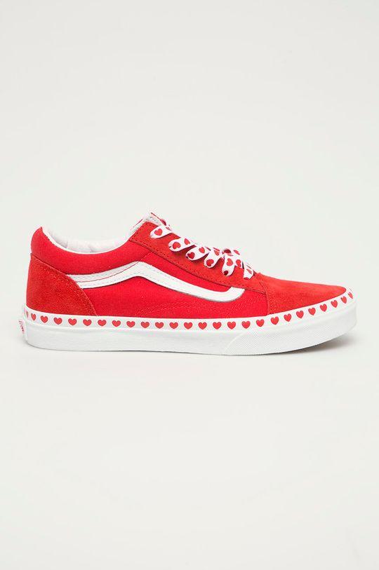 czerwony Vans - Tenisówki dziecięce Dziewczęcy