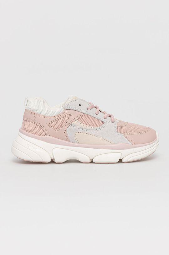 pastelová ružová Geox - Detské topánky Dievčenský