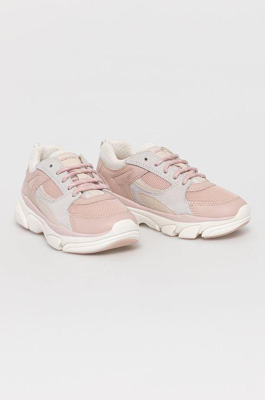 Geox - Detské topánky pastelová ružová