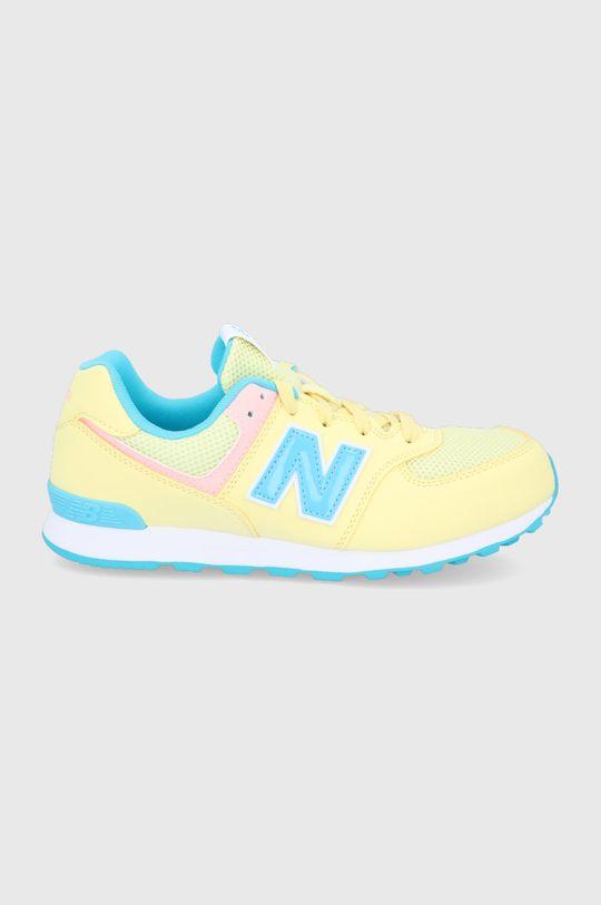 jasny żółty New Balance - Buty dziecięce GC574BYS Dziewczęcy