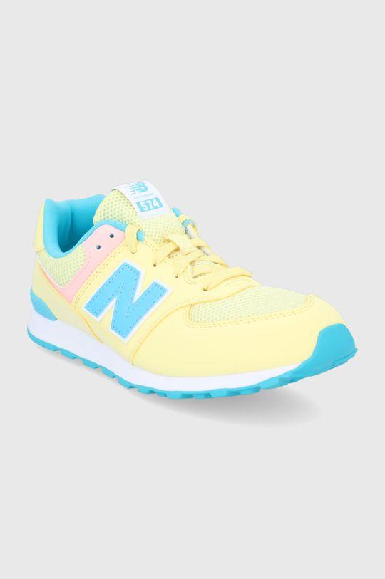 New Balance - Buty dziecięce GC574BYS jasny żółty