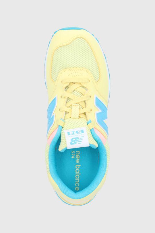 jasny żółty New Balance - Buty dziecięce GC574BYS