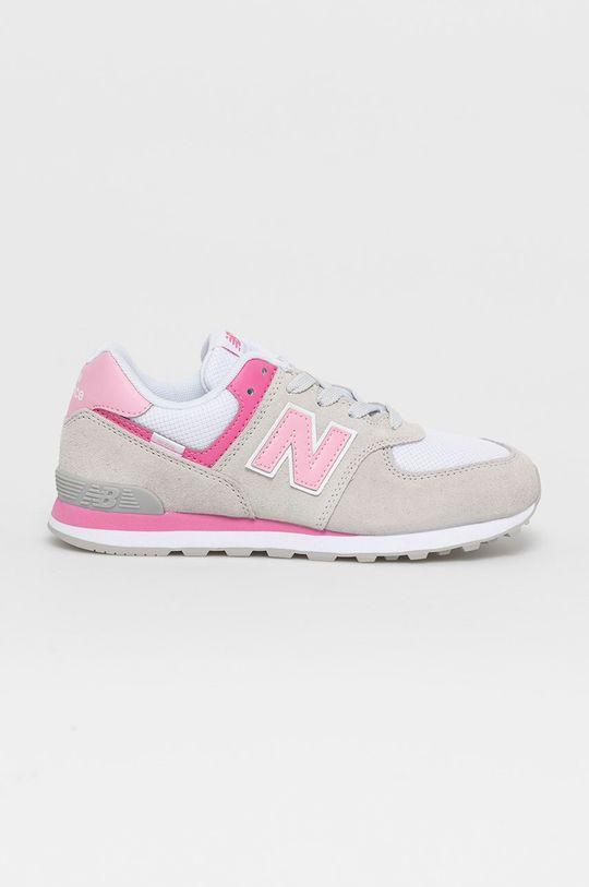 jasny szary New Balance - Buty dziecięce GC574SA2 Dziewczęcy