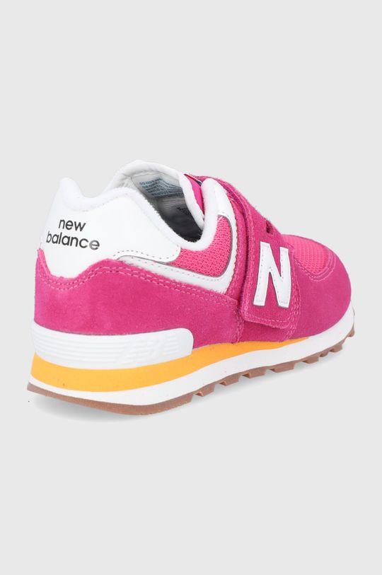 New Balance - Buty skórzane dziecięce PV574HP2 Cholewka: Materiał tekstylny, Skóra zamszowa, Wnętrze: Materiał tekstylny, Podeszwa: Materiał syntetyczny