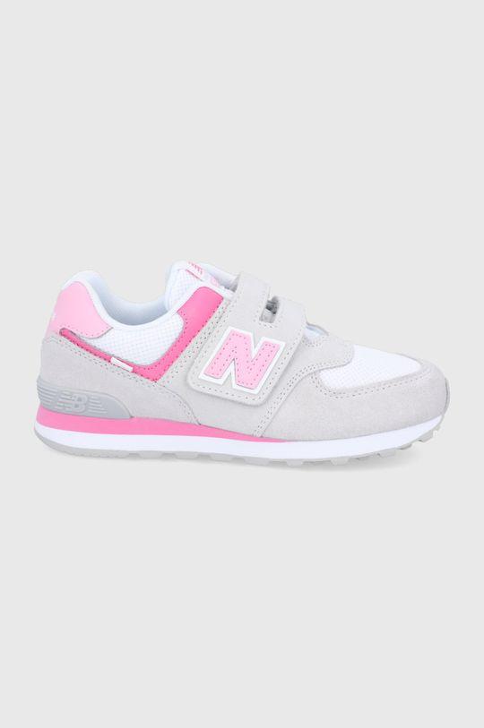 szary New Balance - Buty dziecięce PV574SA2 Dziewczęcy