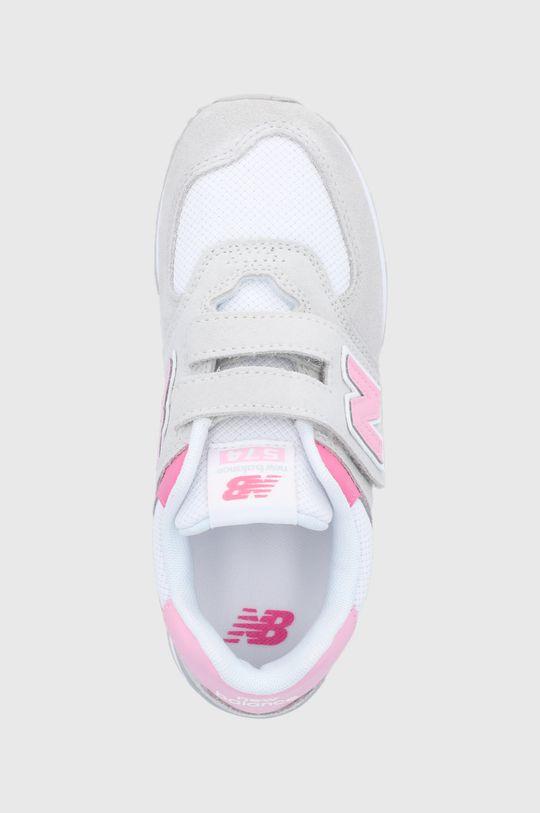 szary New Balance - Buty dziecięce PV574SA2