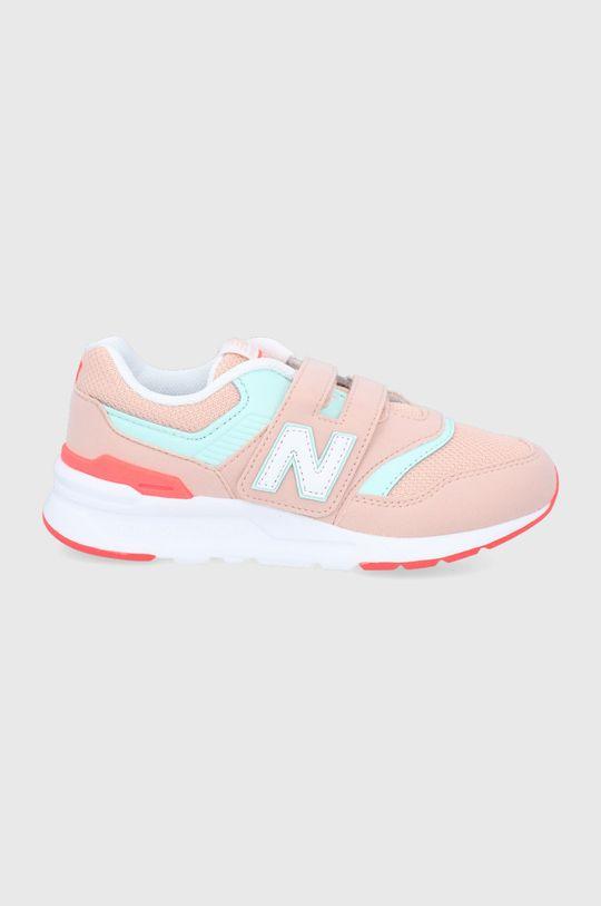 pastelová ružová New Balance - Detské topánky PZ997HSG Dievčenský