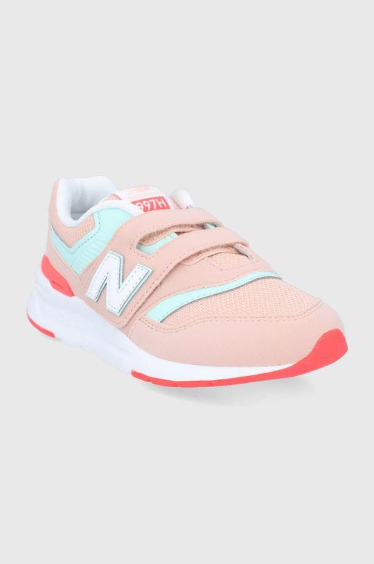 New Balance - Detské topánky PZ997HSG pastelová ružová