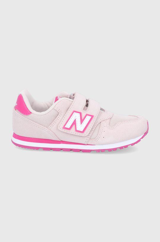 różowy New Balance - Buty dziecięce YV373SPW Dziewczęcy