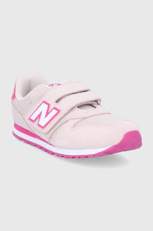 New Balance - Buty dziecięce YV373SPW różowy