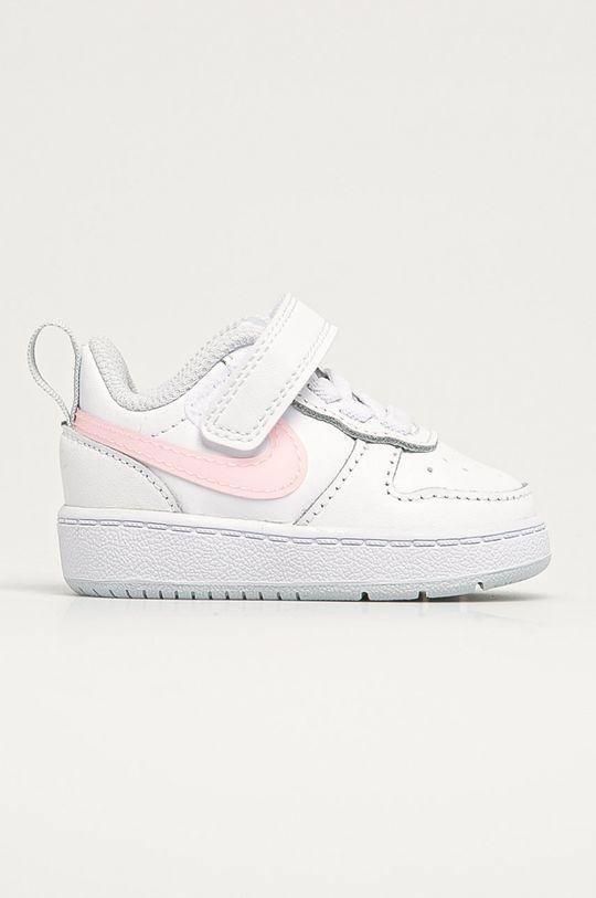bílá Nike Kids - Dětské boty Court Borough Dívčí
