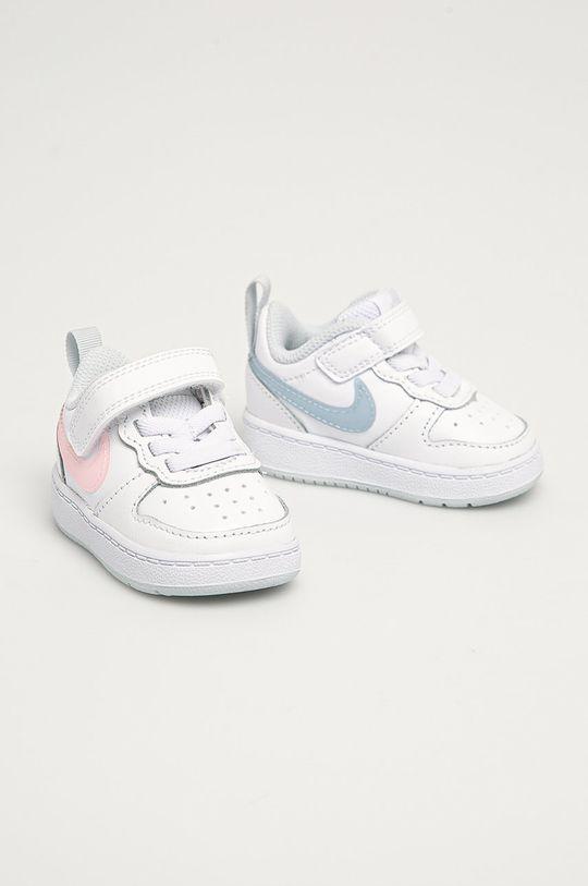 Nike Kids - Dětské boty Court Borough bílá