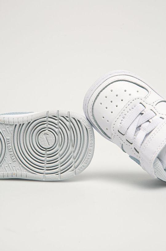 bílá Nike Kids - Dětské boty Court Borough