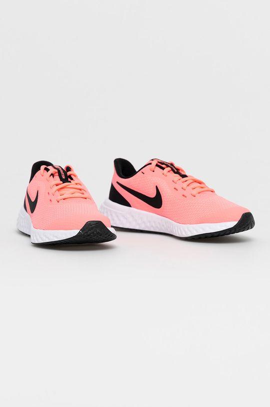 Nike Kids - Dětské boty Revolution 5 ostrá růžová