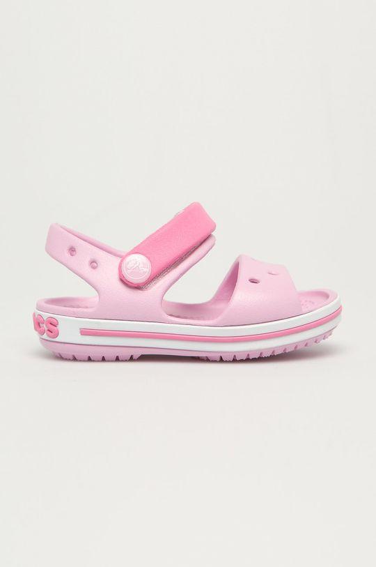 pastelowy różowy Crocs - Sandały dziecięce Dziewczęcy