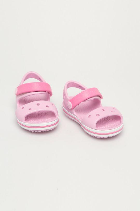 Crocs - Sandały dziecięce pastelowy różowy