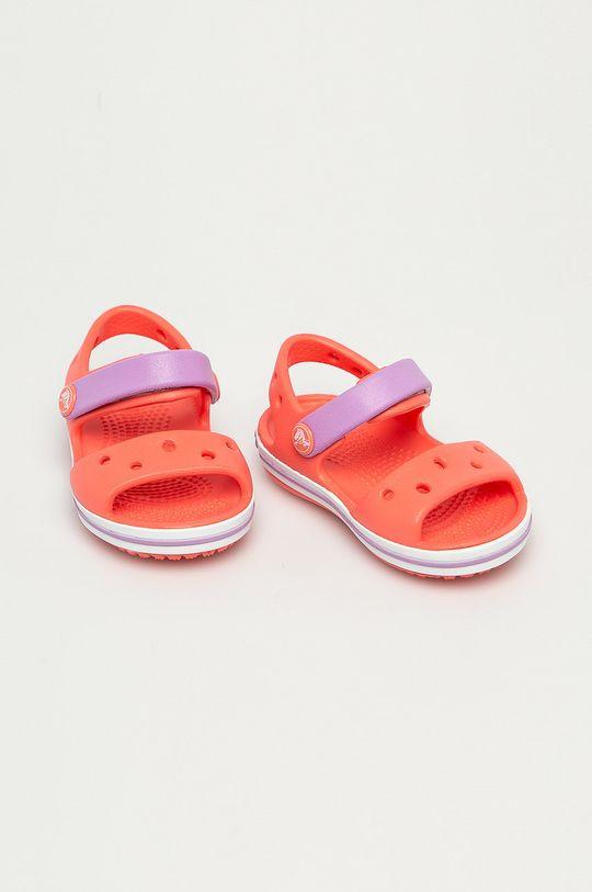 Crocs - Sandały dziecięce pomarańczowy