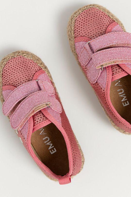 różowy Emu Australia - Espadryle dziecięce Millner Sequin