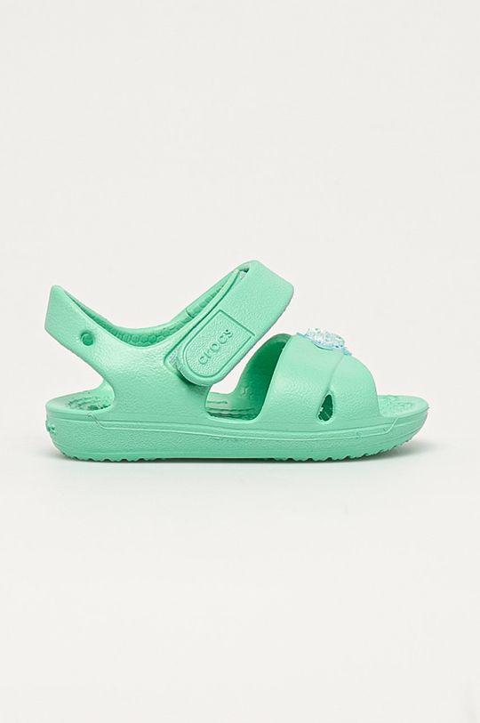 tyrkysová Crocs - Dětské sandály Dívčí