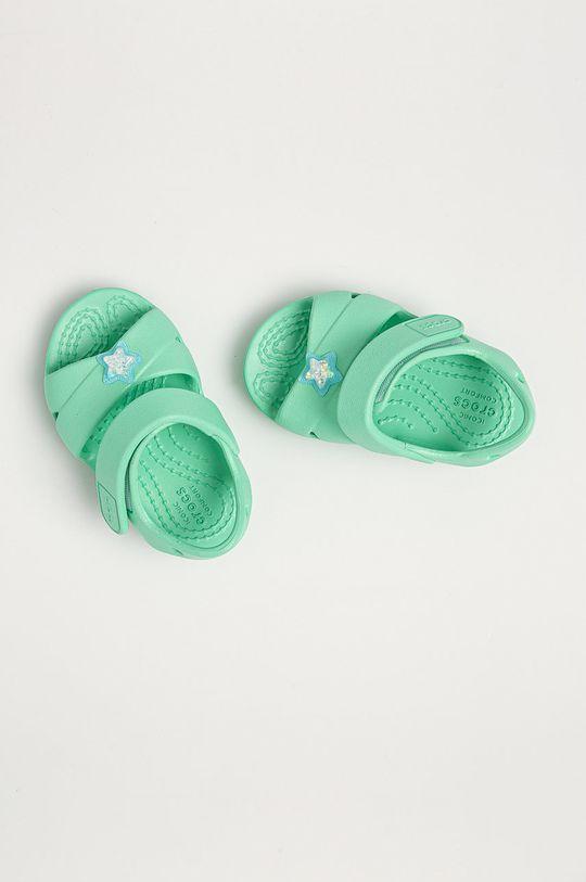 tyrkysová Crocs - Dětské sandály