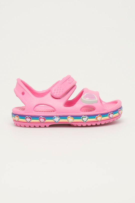 ružová Crocs - Detské sandále Dievčenský