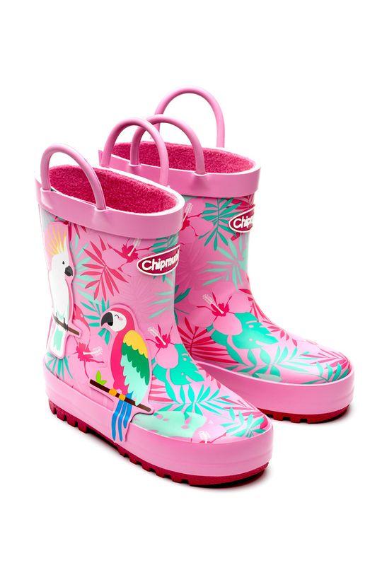 růžová Chipmunks - Dětské holínky PALOMA Dívčí