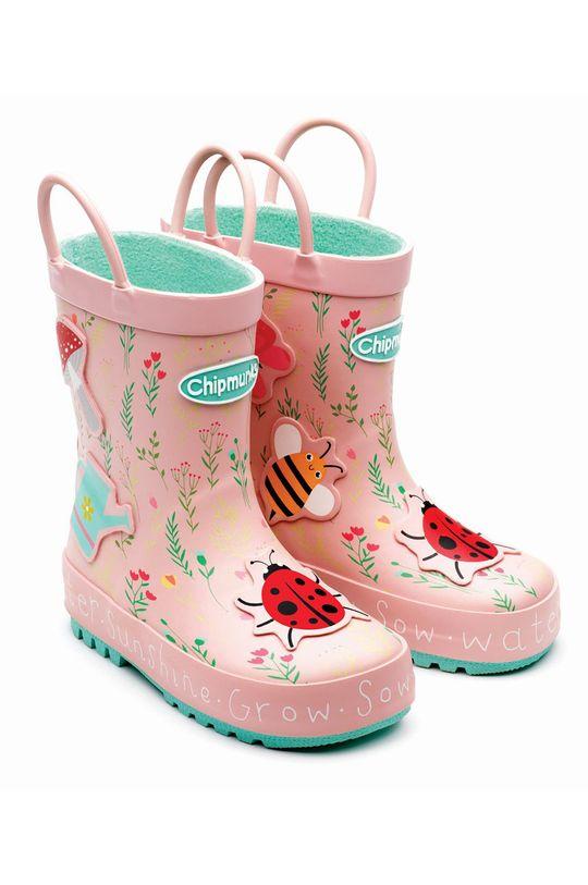 pastelově růžová Chipmunks - Dětské holínky CHELSEA Dívčí
