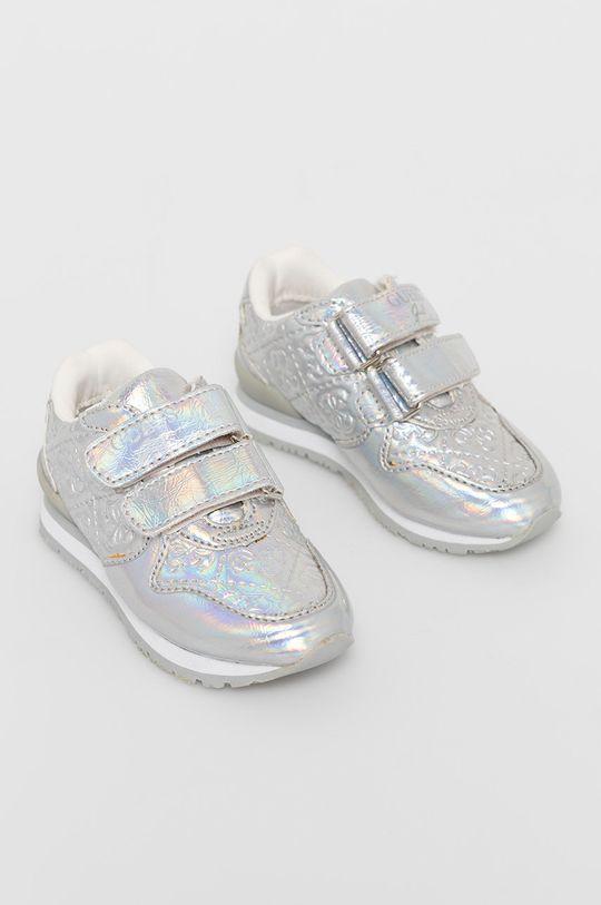 Guess - Dětské boty stříbrná
