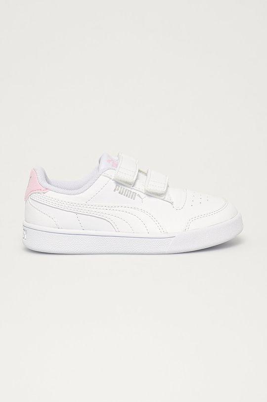 biały Puma - Buty dziecięce Shuffle V PS Dziecięcy