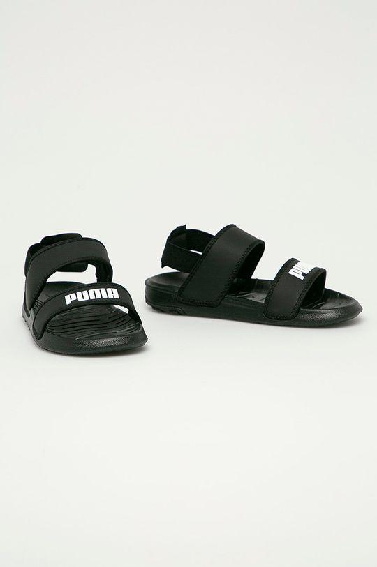 Puma - Detské sandále Soft čierna