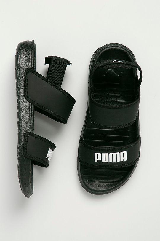 čierna Puma - Detské sandále Soft
