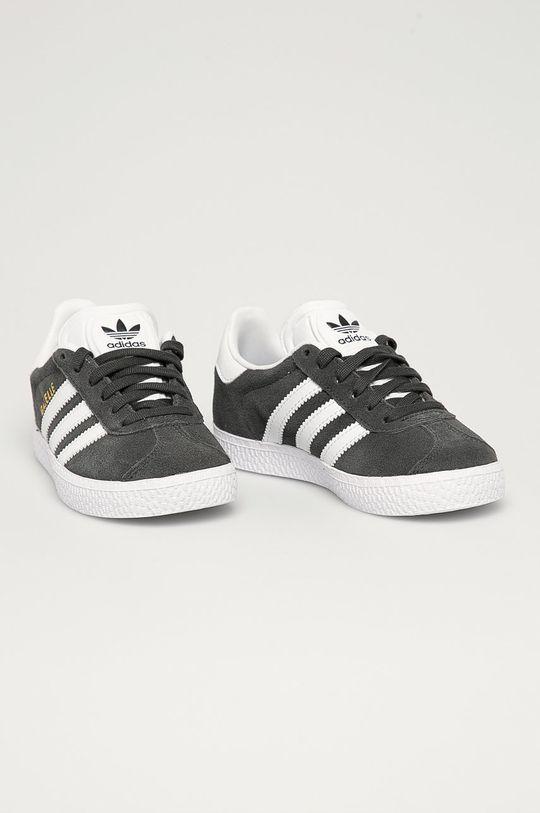 adidas Originals - Detské topánky Gazelle sivá