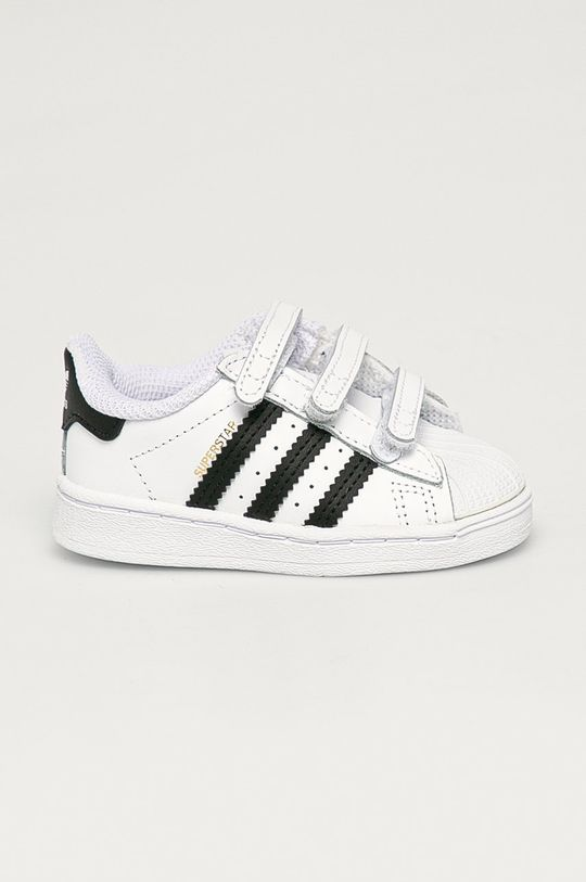 biały adidas Originals - Buty dziecięce Superstar CF I Dziecięcy