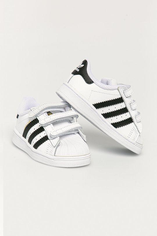 adidas Originals - Buty dziecięce Superstar CF I biały