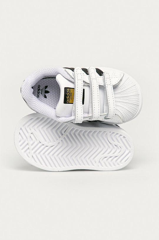 biały adidas Originals - Buty dziecięce Superstar CF I