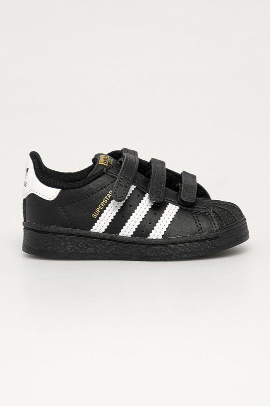 czarny adidas Originals - Buty dziecięce Superstar CF I Dziecięcy