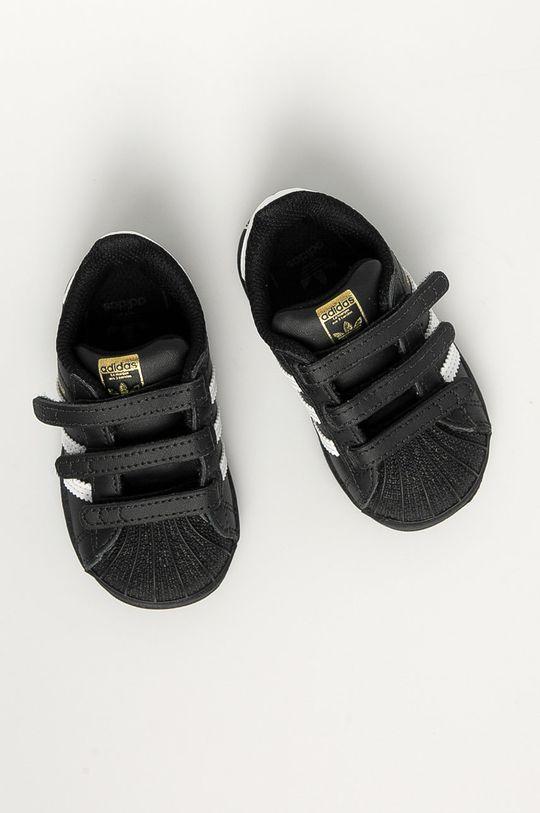 czarny adidas Originals - Buty dziecięce Superstar CF I