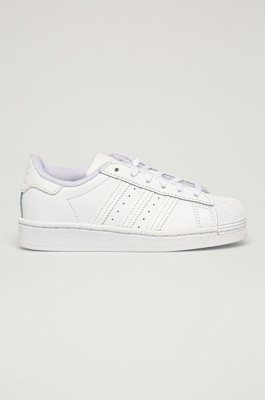 biela adidas Originals - Detské topánky Superstar C Detský