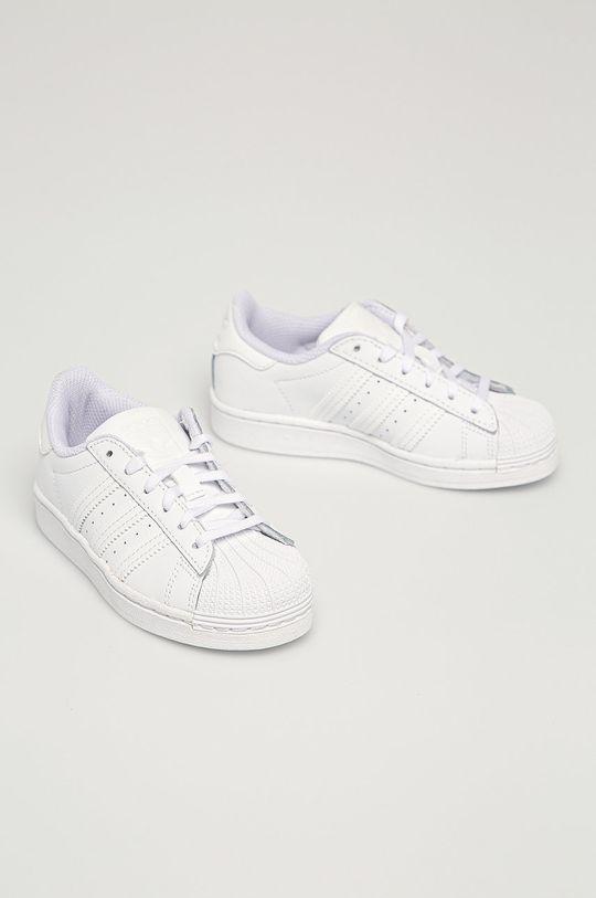 adidas Originals - Buty dziecięce Superstar C biały