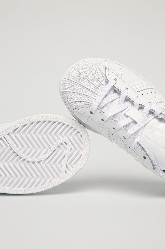 biela adidas Originals - Detské topánky Superstar C