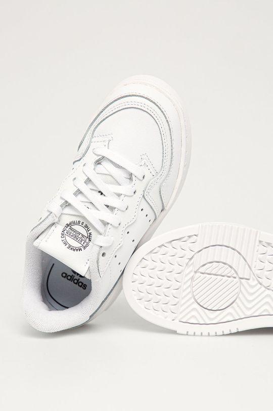 biela adidas Originals - Detské topánky Supercourt