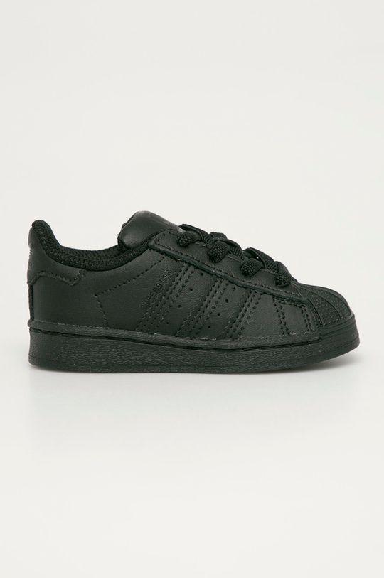 čierna adidas Originals - Detské topánky Superstar EL Detský