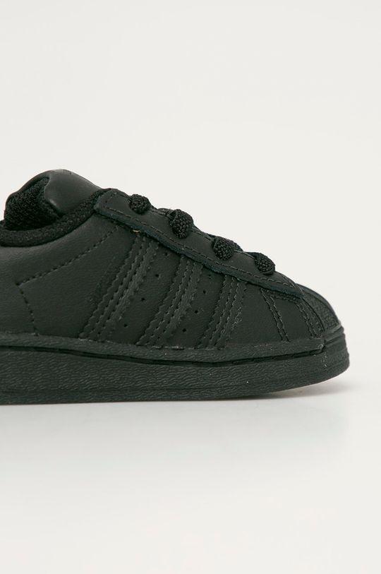 čierna adidas Originals - Detské topánky Superstar EL