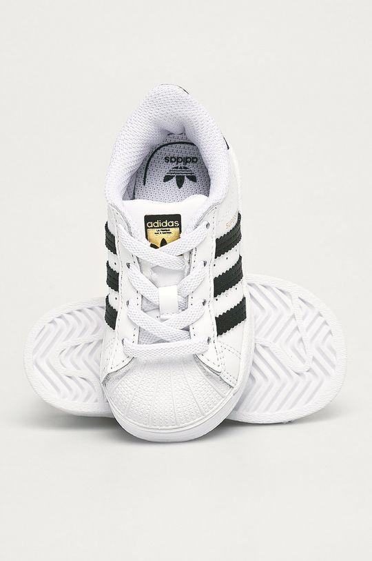 bílá adidas Originals - Dětské boty Suerstar EL I