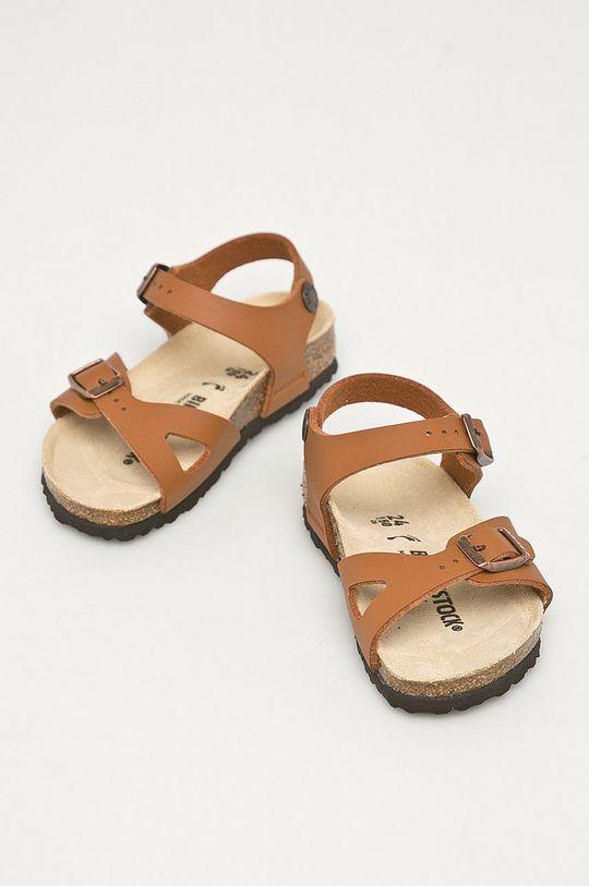 Birkenstock - Sandały dziecięce Rio brązowy