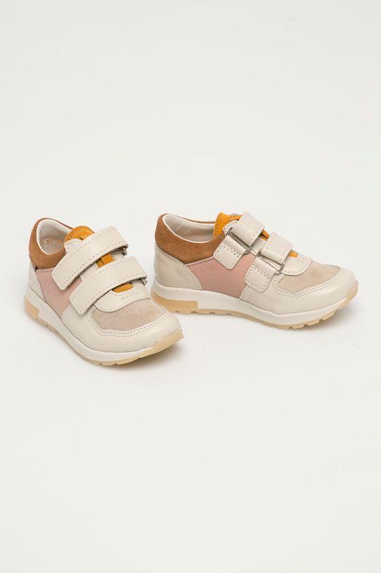 Mrugała - Dětské kožené boty tělová