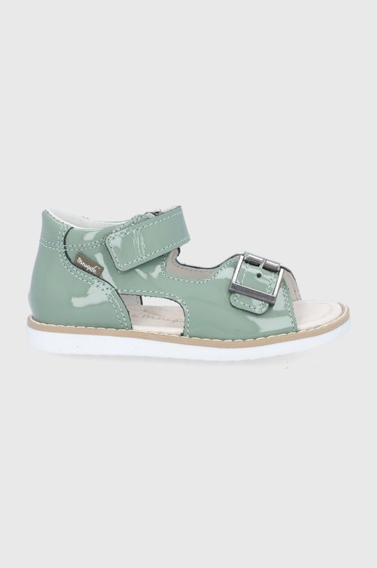 blady zielony Mrugała - Sandały skórzane dziecięce Dziecięcy