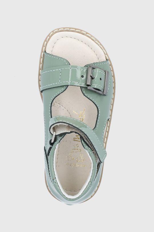 blady zielony Mrugała - Sandały skórzane dziecięce