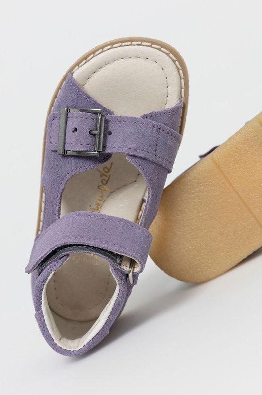 levandulová Mrugała - Dětské semišové sandály