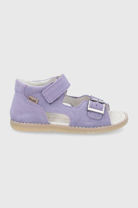 lavanda Mrugała - Sandale din piele intoarsa pentru copii De copii